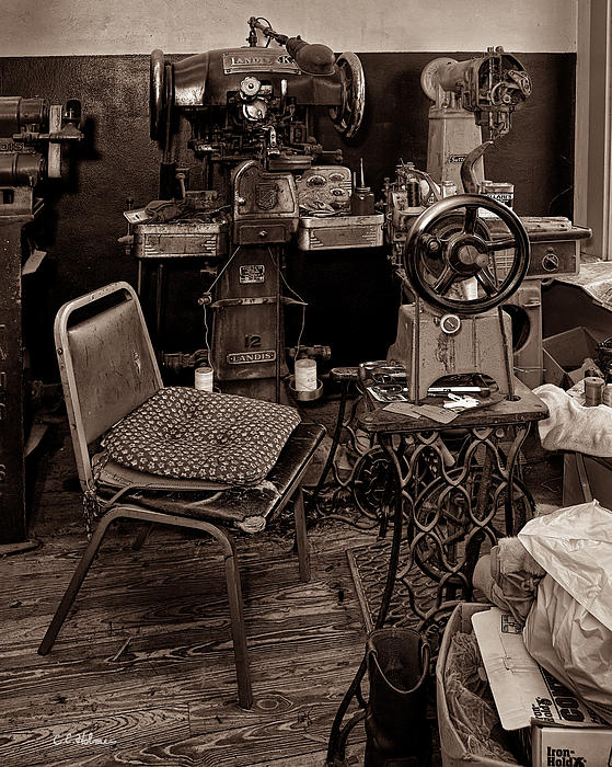 Shoe Hospital - Sepia Print by Christopher Holmes