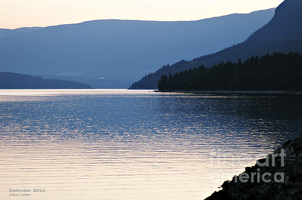 Shuswap Lake British Columbia Print by Jayne Logan Intveld