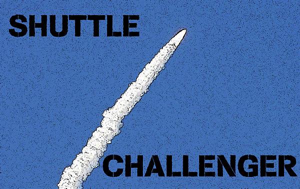 Shuttle Challenger  Print by David Lee Thompson
