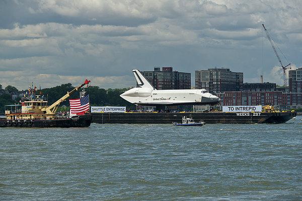 Shuttle Enterprise Flag Escort Print by Gary Eason