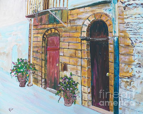 Sicilian Home Print by Judy Via-Wolff
