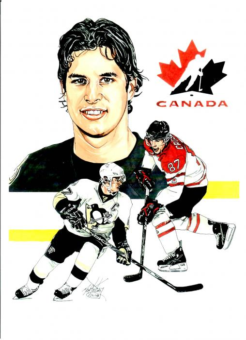 Sidney Crosby Painting