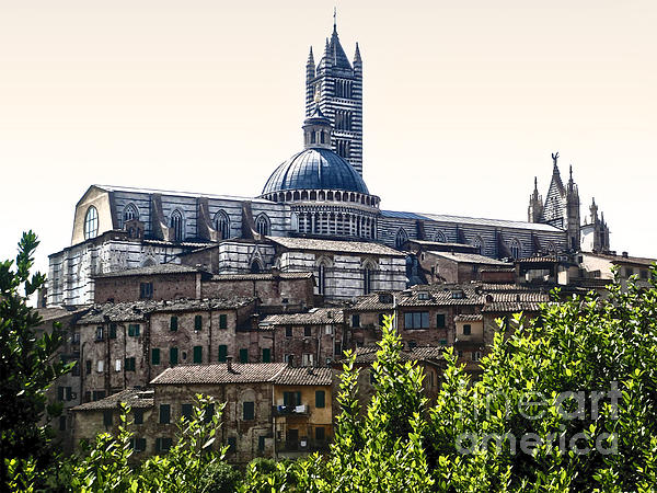Siena Italy - Siena Cathedral -02 Print by Gregory Dyer