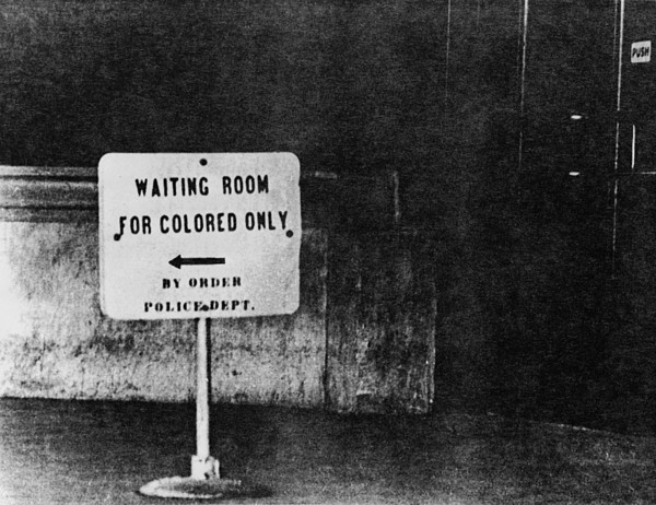 Sign Reading Waiting Room For Colored Print by Everett