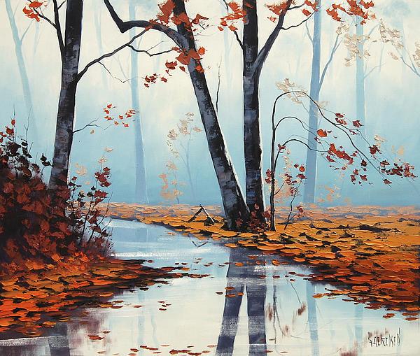 Silent Woods Print by Graham Gercken