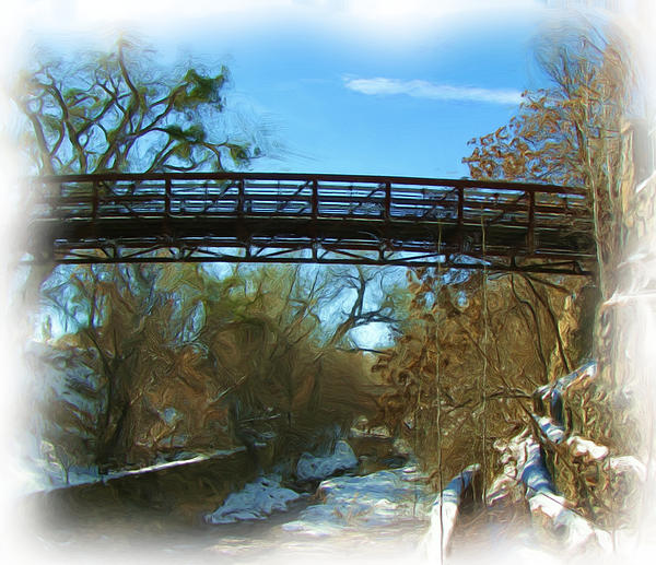 Silver City Big Ditch In Winter Print by FeVa  Fotos