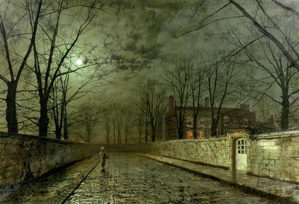John Atkinson Grimshaw - Silver Moonlight