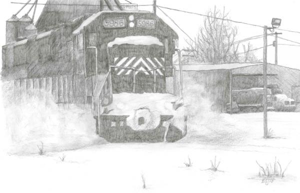 Silver Snow Print by BJ Shine