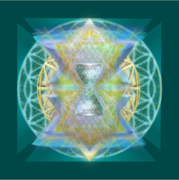 Christopher Pringer - Silver Torquoise Chalice Matrix Subtly Lavender Lit on Gold n Blue n Green with Teal