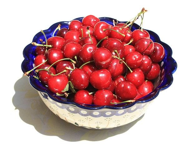Simply A Bowl Of Cherries Print by Carol Groenen