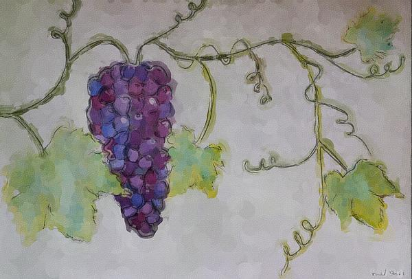 Simply Grape Print by Heidi Smith