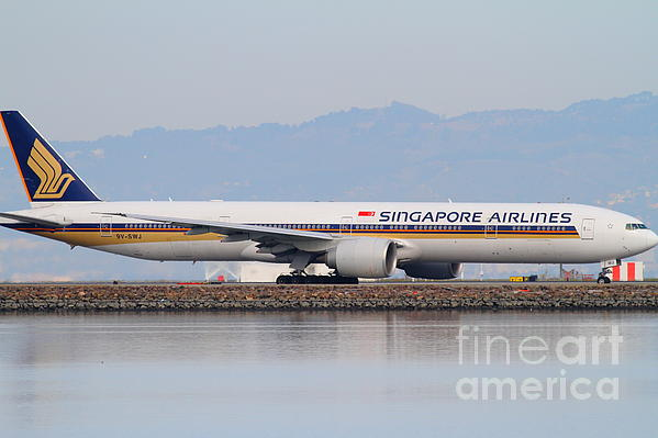 Singapore Airlines Jet Airplane At San Francisco International Airport Sfo . 7d12145 Print by Wingsdomain Art and Photography