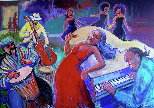 Singin  The Blues Print by Anne Marie Bourgeois