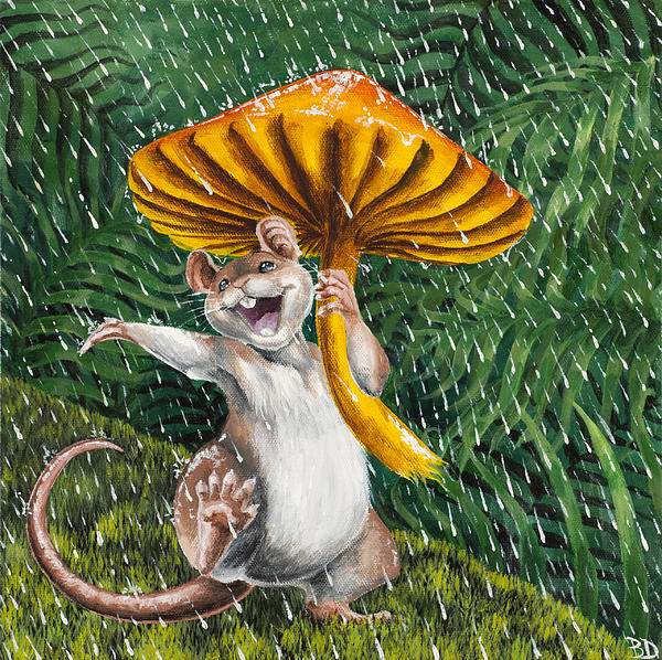 Singing In The Rain Print by Beth Davies