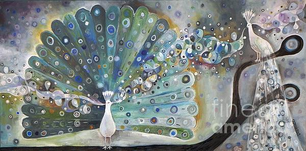 Singing Peacock Print by Manami Lingerfelt