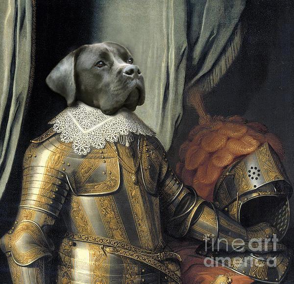 Sir Dog Print by Digit Art Mariel Everling