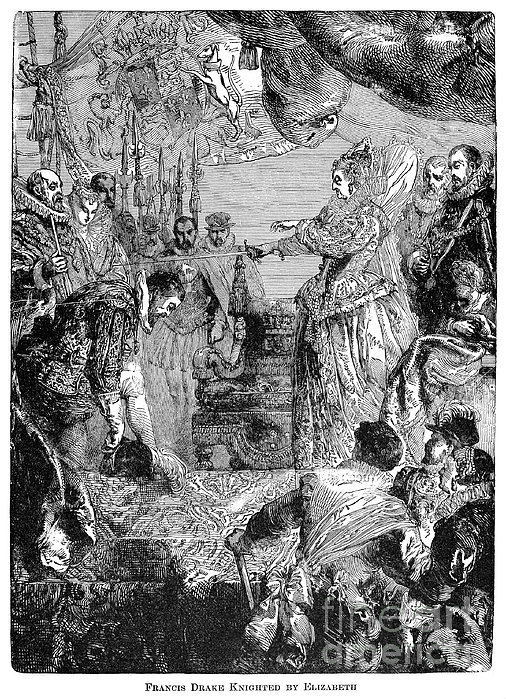 Sir Francis Drake (1540-1596) Print by Granger