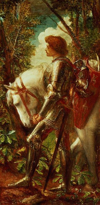 Sir Galahad Print by George Frederic Watts