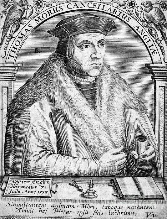 Sir Thomas More (1478-1535) Print by Granger