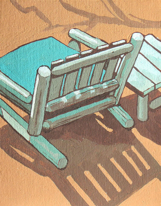 Sit Back And Relax Print by Sandy Tracey