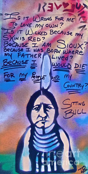 Sitting Bull...country Print by Tony B Conscious
