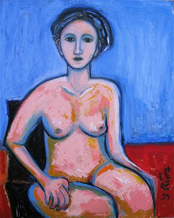 Yulonda Rios - Sitting Female Nude