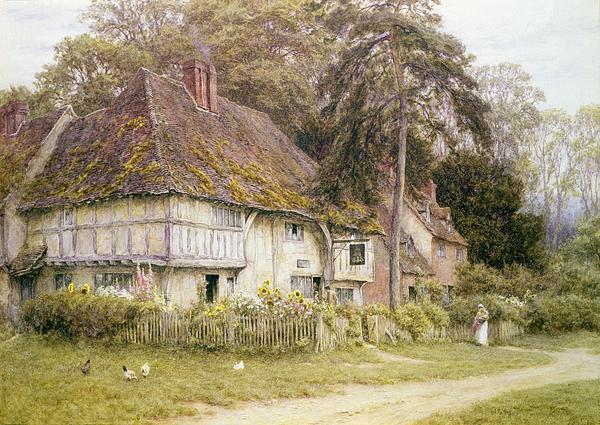 Six Bells Hollingbourne Kent  Print by Helen Allingham