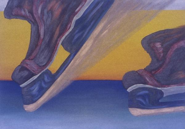 Skates Print by Ken  Yackel