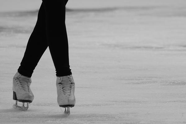 Skating Print by Lauri Novak
