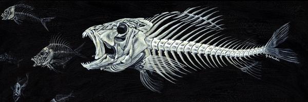 Skeletail Print by JoAnn Wheeler
