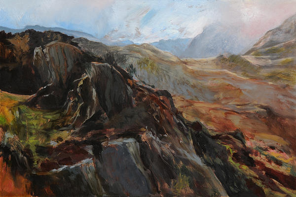 Sketch In Snowdonia Painting  - Sketch In Snowdonia Fine Art Print