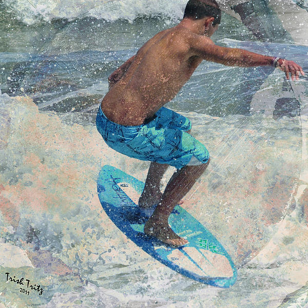 Skimboardin' In Dewey Print by Trish Tritz