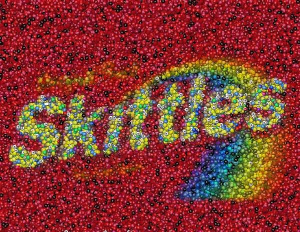Skittles Mosaic Print by Paul Van Scott