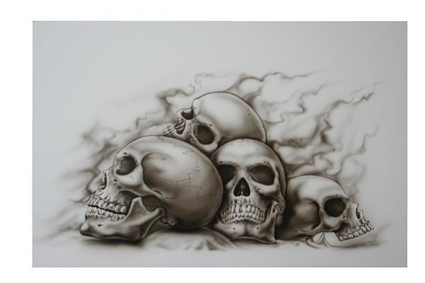 Skull Pile Painting Skull