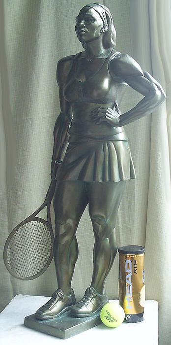 Skupture Tennis Player Print by Zlatan Stoilov