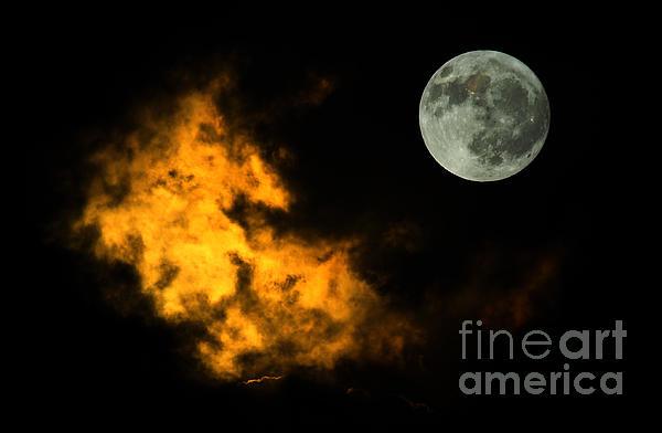 Sky And Moon Print by Odon Czintos