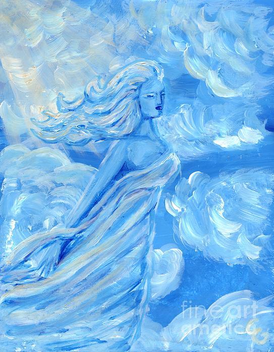 Sky Goddess Print by Cassandra Geernaert