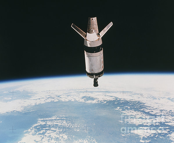 Skylab 3 Expended Second Stage In Earth Print by NASA / Science Source