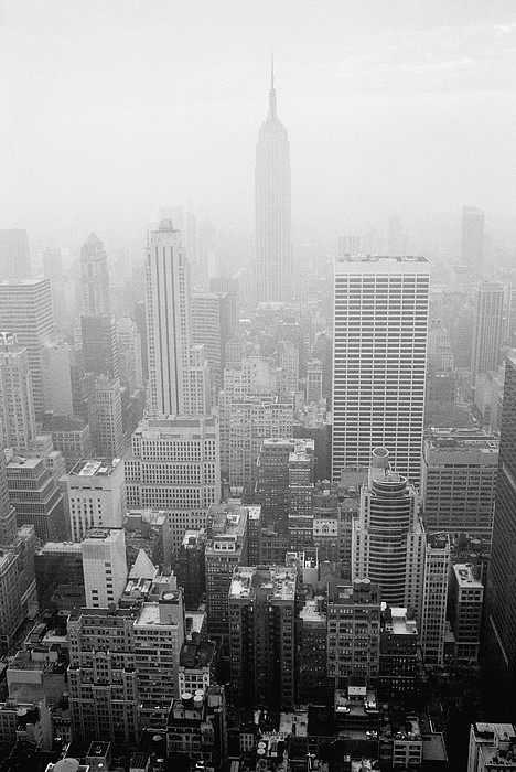 Skyline Of Lower Manhattan, New York City, New York, Usa Print by Aaron Johnston