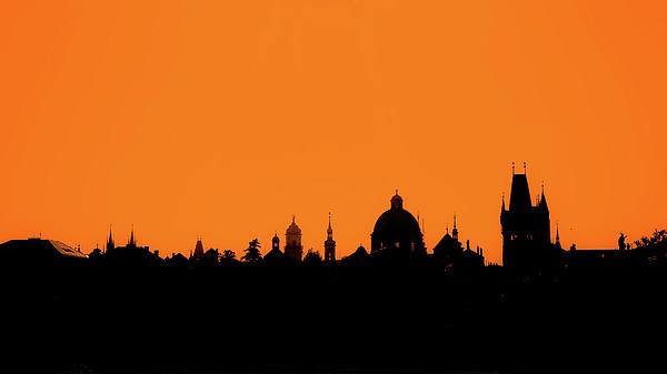 Skyline Over Charles Bridge, Prague Print by Alexandre Fundone