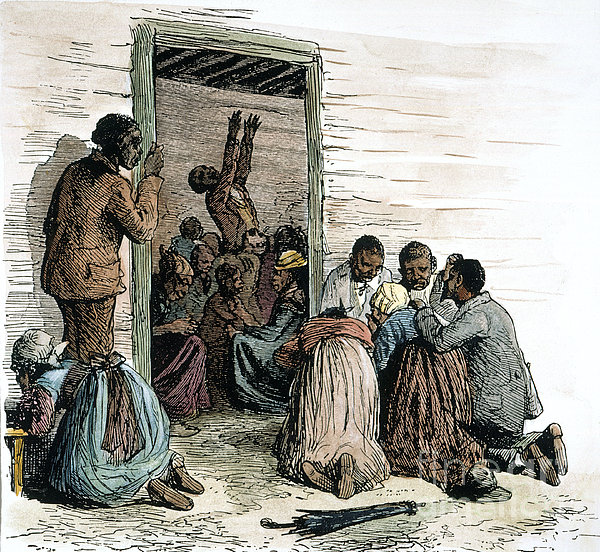 slave religion As religion ran deep through slavery, white christian slaveholders argued that slavery was a necessary evil because it would control the sinful, less humane, black race slave owners, beginning in the 1830s, began to permit black religious gatherings in some forms.
