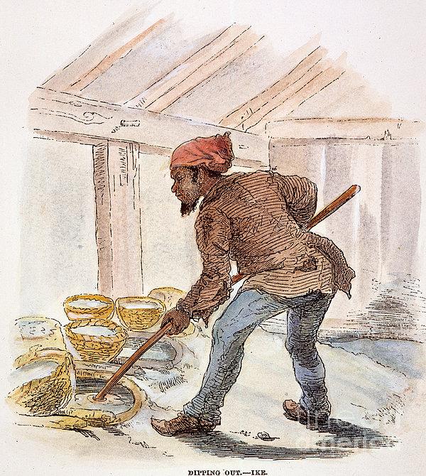 Slavery: Saltworks, 1857 Print by Granger