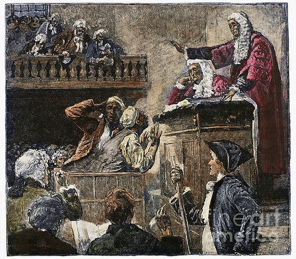 Slaves In Court, 1741 Print by Granger
