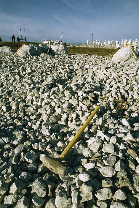 Sledgehammer In A Field Of Rock Print by Bill Curtsinger