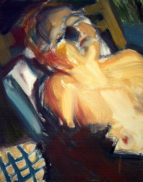 Sleeping Nude Painting by Bob Dornberg - Sleeping Nude Fine Art