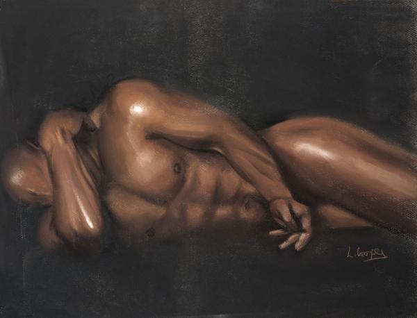 Sleeping Nude Print by L Cooper