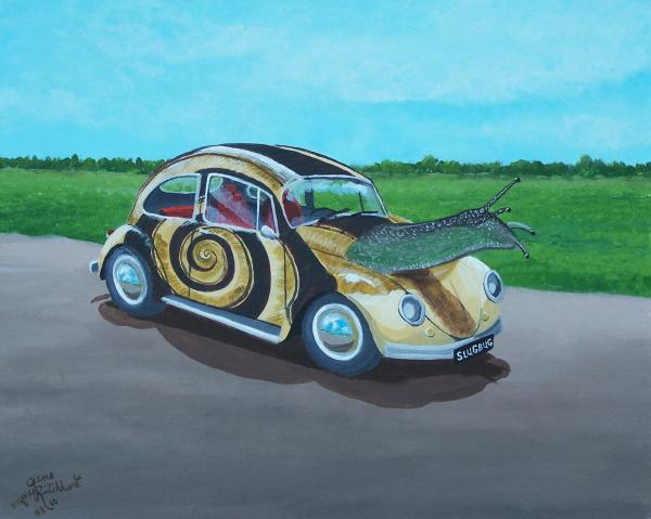 Slug Bug Painting  - Slug Bug Fine Art Print