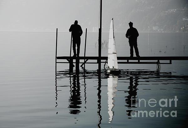 Small Sailing Boat Print by Mats Silvan