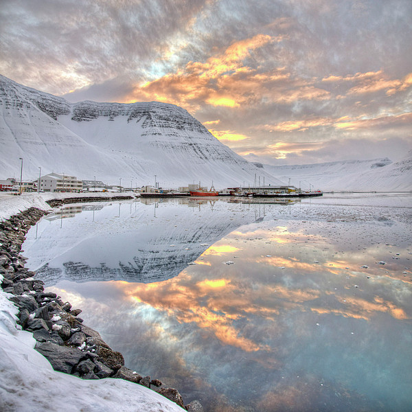 Small Village In Region Of Westfjords In Iceland By Jtp