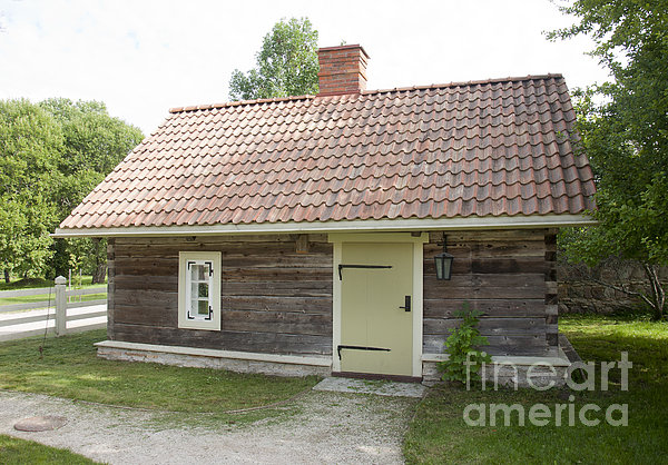 Small Wood Building Print by Jaak Nilson